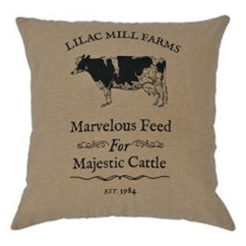 """Majestic Cattle Pillow, 16"""""""